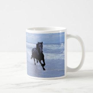 A horse wild and free basic white mug