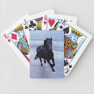 A horse wild and free bicycle playing cards