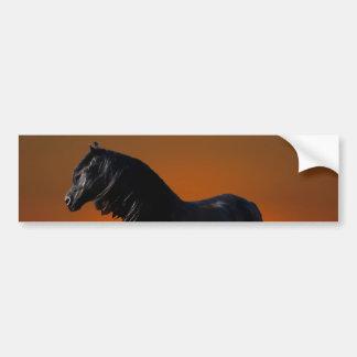 A horses sunset romp bumper sticker