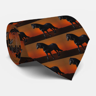 A horses sunset romp tie