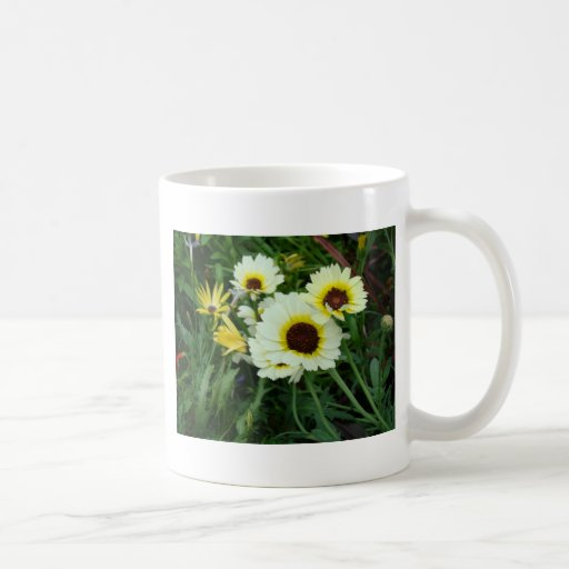 A host of yellow daisies mug