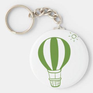 A hot air balloon and a sun key ring
