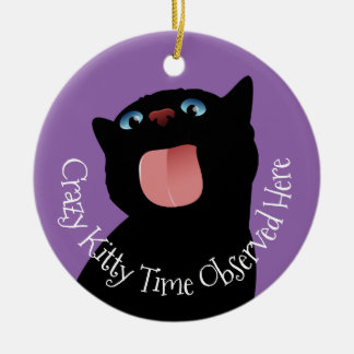 A House is not a Home without a Cat Ceramic Ornament