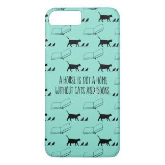 A house is not a home without cats and books iPhone 8 plus/7 plus case