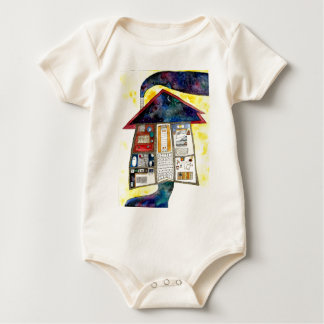 A house of my dreams baby bodysuit