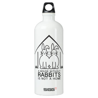 A House Without Rabbits Is Not A Home Water Bottle
