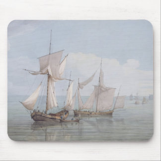 A Hoy and a Lugger with other Shipping on a Calm S Mouse Pad