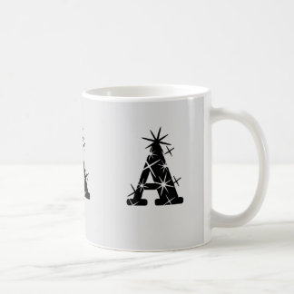 'A' initial cup