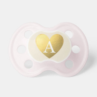 """""""A"""" Initial Golden Baby Pacifiers"""