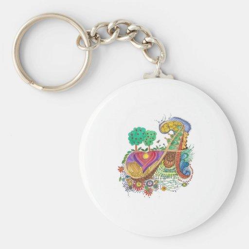 A, initial, monogram, wedding key chains