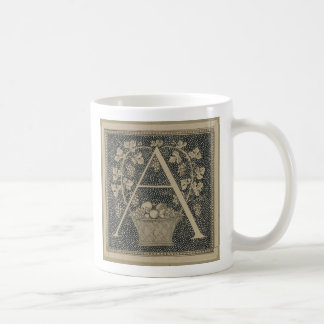 """""""A"""" initial mug ~ Class James Tissot Design"""