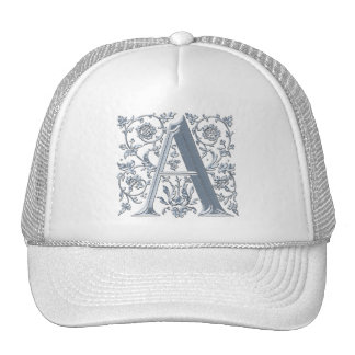 A Initial Personalised Monogram Fashion Cap Mesh Hat