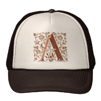 A Initial Personalised Monogram Fashion Cap Hat