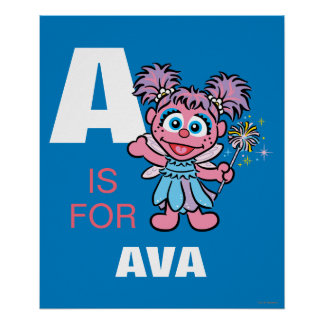 A is for Abby Cadabby   Add Your Name Poster