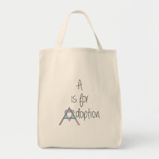 A is for Adoption - Grocery Bag