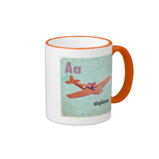A is for Airplane Coffee Mugs