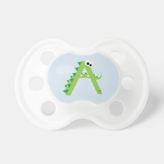 A Is For Alligator Cute Baby Pacifier
