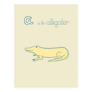 A is for Alligator Postcard