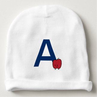 A is for Apple alphabet abc letter learning Baby Beanie