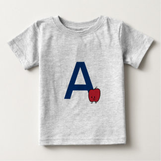 A is for Apple alphabet abc letter learning Baby T-Shirt