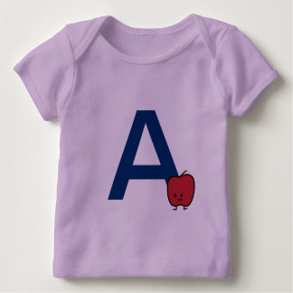 A is for Apple alphabet abc letter learning cute Baby T-Shirt