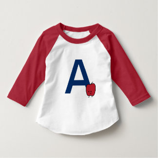 A is for Apple alphabet abc letter learning cute T-Shirt