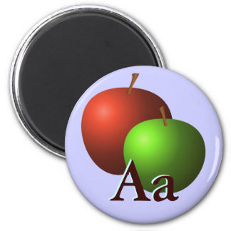A is for Apples 6 Cm Round Magnet