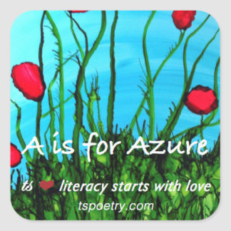A Is for Azure Stickers