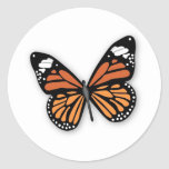 A Jewelled Monarch Butterfly Round Sticker