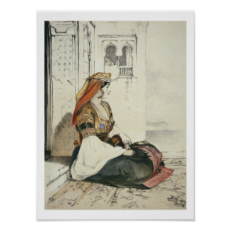 A Jewish Woman of Gibraltar, from 'Sketches of Spa Poster