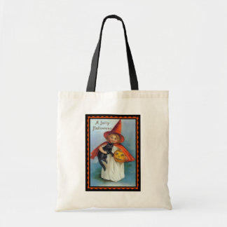 A Jolly Halloween Witch Canvas Tote Canvas Bag