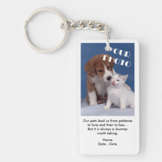 A Journey Pet Memorial Keychain