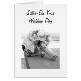 """A JOURNEY TO LAST A LIFETIME """"SISTER'S WEDDING"""" GREETING CARD"""