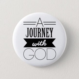 A Journey with God 6 Cm Round Badge
