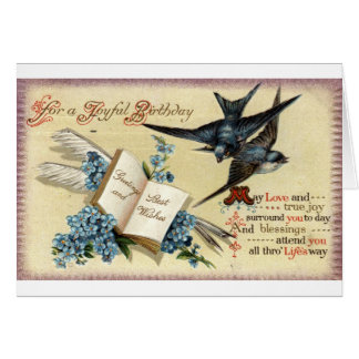 A Joyful Birthday Vintage 1913 Repro Card