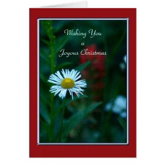 A Joyous Christmas , White Wildflower - No Name Greeting Card