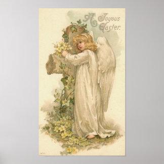 A Joyous Easter Angel Vintage Easter Poster