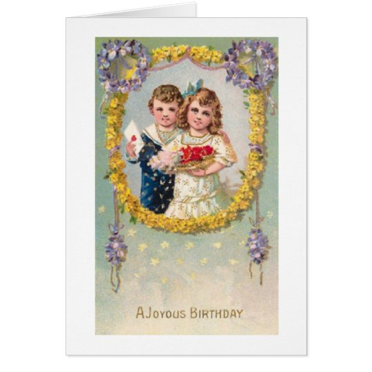 A Joyous Victorian Birthday Card
