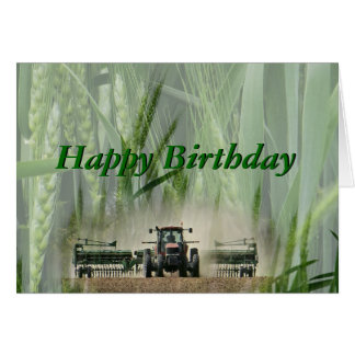 A Kansas Wheat Farmer 2862-customize any occasion Card