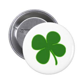 A Kelly Green Shamrock Pinback Buttons