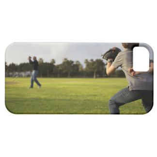 A kid wearing a baseball glove waits for his dad iPhone 5 cases