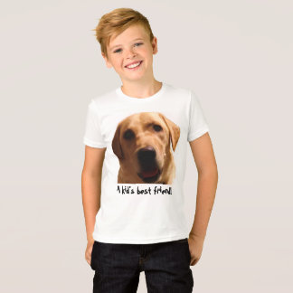 A Kid's Best Friend! | Yellow Lab T-Shirt