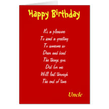 Uncle birthday cards invitations zazzle bookmarktalkfo Images