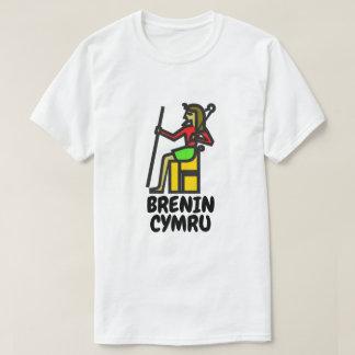 A king and Welsh text brenin cymru T-Shirt