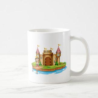 A king near the castle basic white mug