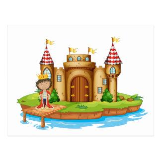 A king near the castle postcard