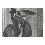 A Kiss Victorian/Gothic Winged Vampire Greeting Card