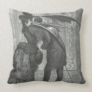 A Kiss Victorian/Gothic Winged Vampire Cushion