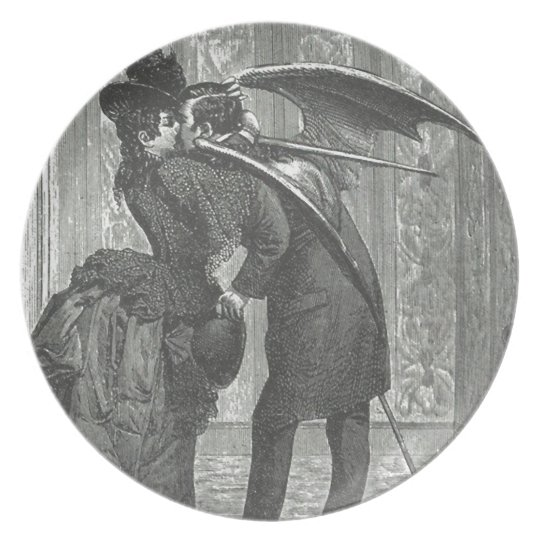 A Kiss Victorian/Gothic Winged Vampire Plate