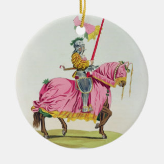 A Knight Armed for the Bond, 1512, engraved by W. Ceramic Ornament